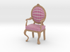 1:12 Scale Pink Plaid/Pale Oak Louis XVI Chair 3d printed