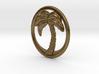 Palm Tree Pendant - 1inch 3d printed