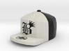 8 Bit King black and White Hat Pendant 3d printed