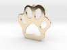 Paw Print Necklace Pendant 3d printed