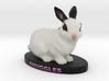 Custom Rabbit Figurine - Snuggles 3d printed