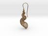 Turitella Shell Voronoi Fishhook Earring 3d printed
