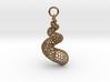 Seashell Voronoi Cell Pattern  pendant / earring 3d printed