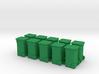 Rollaway Trash Bin HO Scale 3d printed
