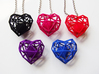 Heart Christmas ornament 3d printed