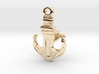 Anchor Cufflink 3d printed
