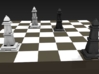Bishop - Mini Chess Piece 3d printed Chessboard not included. Multiple pieces shown for different colors.