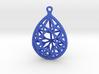 3D Printed Diamond Pear Drop Earrings 3d printed