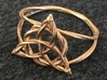 Woven triquetra (choose size) 3d printed Celtic knot  triquetra ring in raw bronze.