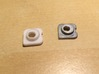 Beogram 4000, 4002, 4004 Cabinet Guiding Washers 3d printed Comparison with original metal washer from Beogram 4004 (right)