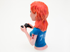 Redhead gamer girl mini bust 3d printed Heart tattoos on the right arm.