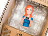 Redhead gamer girl mini bust 3d printed Gamer Girl in the Shapeways box.