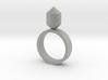 Single Gem Ring 3d printed