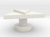 Triangle Cuff Link 3d printed