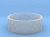 Moorish Geometric Lattice Ring 3d printed