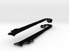 Maciejowski Chopper Earring (pair) curved grip 3d printed