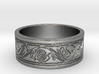 Viking Swirled Linework Ring 3d printed
