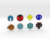 Johto Pokemon Badges 3d printed