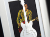 Gibson ES 335 guitar for photo frame 3d printed Frames and background pictures are not included!!Gibson ES 335 with a younger Chuck Berry