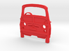 Classic Fiat 500 3d printed