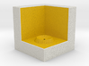 LuminOrb 2.4 - Cube Stand 3d printed Shapeways render of Cube Display Stand for GENEROSITY in Full Color Sandstone