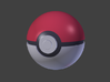 Pokeball 8cm ø 3d printed all pieces joined together