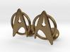 StarTrek Cuffliknks 3d printed
