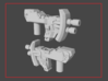 """MICRON"" Transformers Weapons Set (5mm post) 3d printed"
