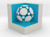 LuminOrb 1.8 - MINDFULNESS 3d printed Shapeways render of MINDFULNESS on a matching color Cube Display Stand (optional)