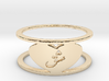 Heart Love Eshgh Ring, Ring Size 8 3d printed