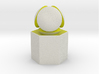 LuminOrb 1.7 - Column Stand 3d printed Shapeways render of Column Display Stand with PATIENCE in Full Color Sandstone