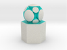 LuminOrb 2.5 - Column Stand 3d printed Shapeways render of Column Display Stand with HARMONY in Full Color Sandstone
