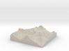 Model of Agassiz Glacier 3d printed