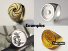 Signe - unique Signet Ring 3d printed printed examples