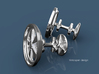 Porsche Fuchs wheel inspired cufflinks 3d printed